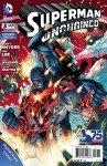 Capa de Superman Unchained # 3 - versão combo, de Jim Lee