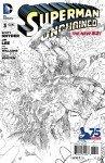 Capa de Superman Unchained # 3 - versão em preto e branco, de Jim Lee