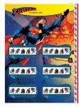 Cartela comemorativa com selos do Superman