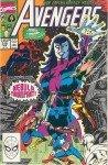 Nebula, na capa de Avengers # 318