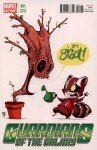 Rocket Raccoon e Groot, arte de Skottie Young