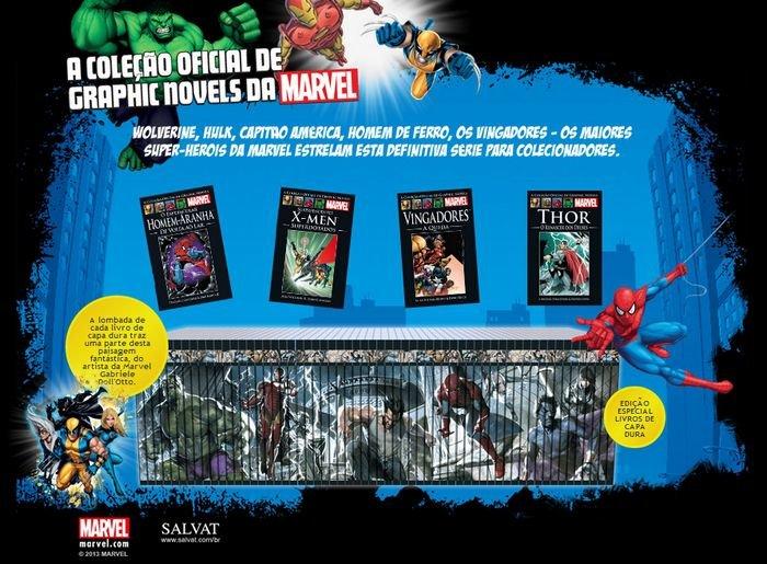 A coleção oficial de graphic novels Marvel