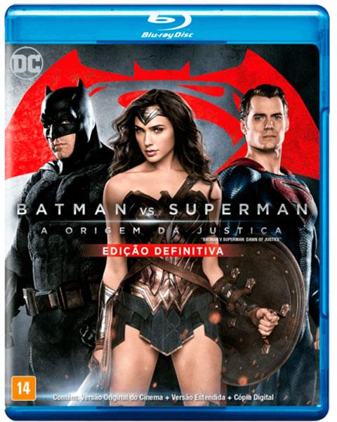 Blu-ray Batman vs. Superman - A origem da justiça - Edição definitiva