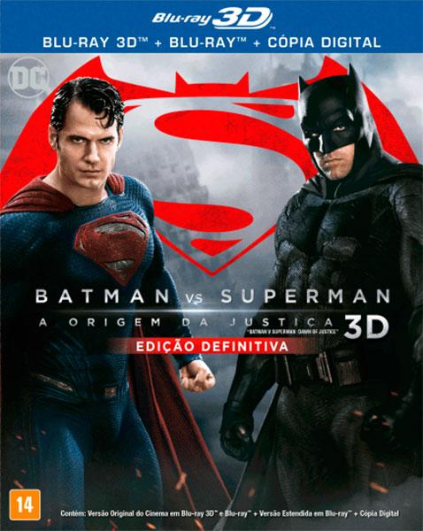 Blu-ray Batman vs. Superman - A origem da Justiça - Edição definitiva 3D