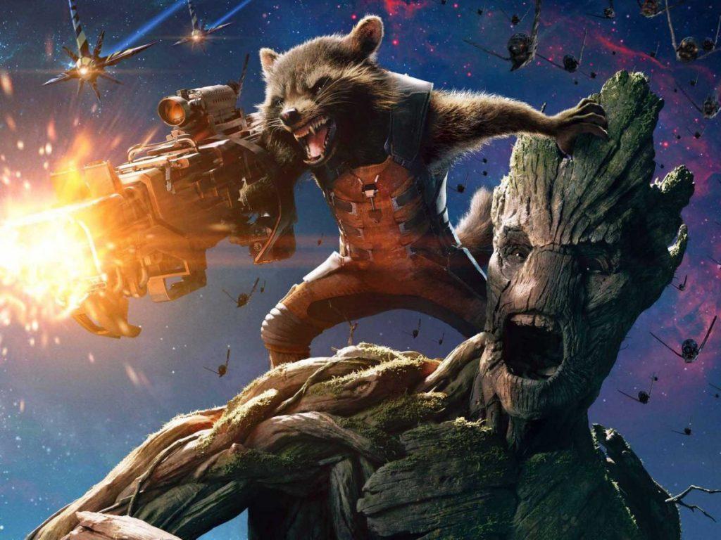 Rocket e Groot, em Guardiões da Galáxia