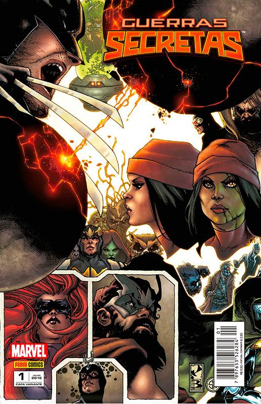 Guerras Secretas # 1 - capa variante