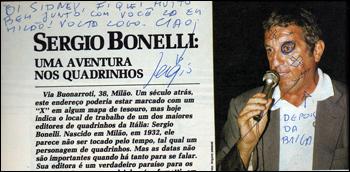 Autógrafo de Sergio Bonelli para Sidney Gusman