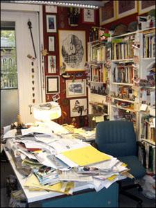 Escritório de Sergio Bonelli, em 2009