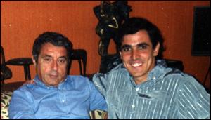 Sidney Gusman e Sergio Bonelli, em 1992