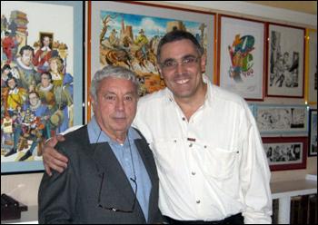 Sergio Bonelli e Sidney Gusman, em 2009