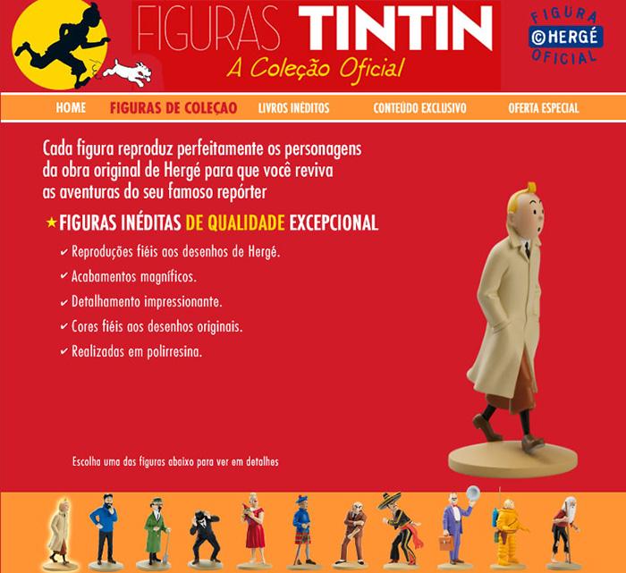 Coleção oficial Figuras de Tintim
