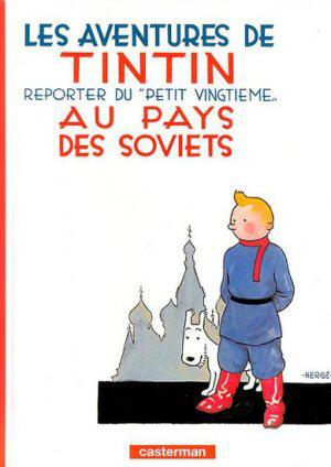 Capa da edição original de Tintim no País dos Sovietes