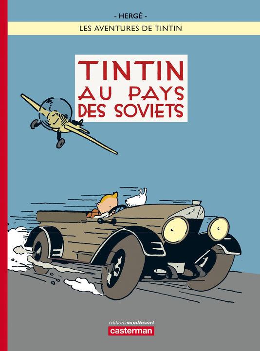 Capa da edição colorida de Tintim no País dos Sovietes