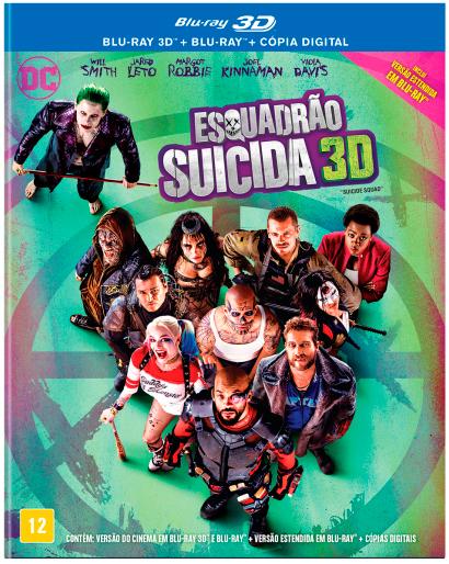 Blu-ray Esquadrão Suicida 3D