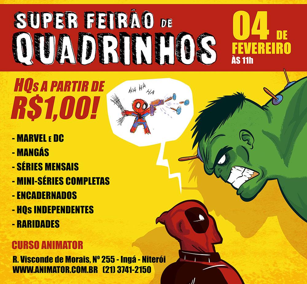 1º Super Feirão de Quadrinhos em Niterói