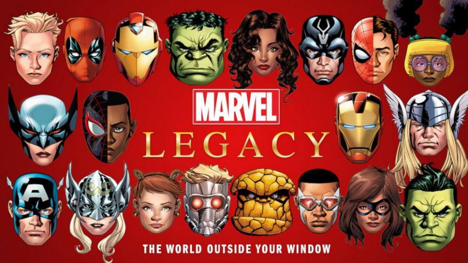 Arte promocional de Marvel Legacy
