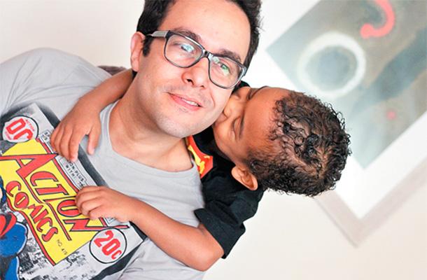 Luis Augusto e seu filho, Ben