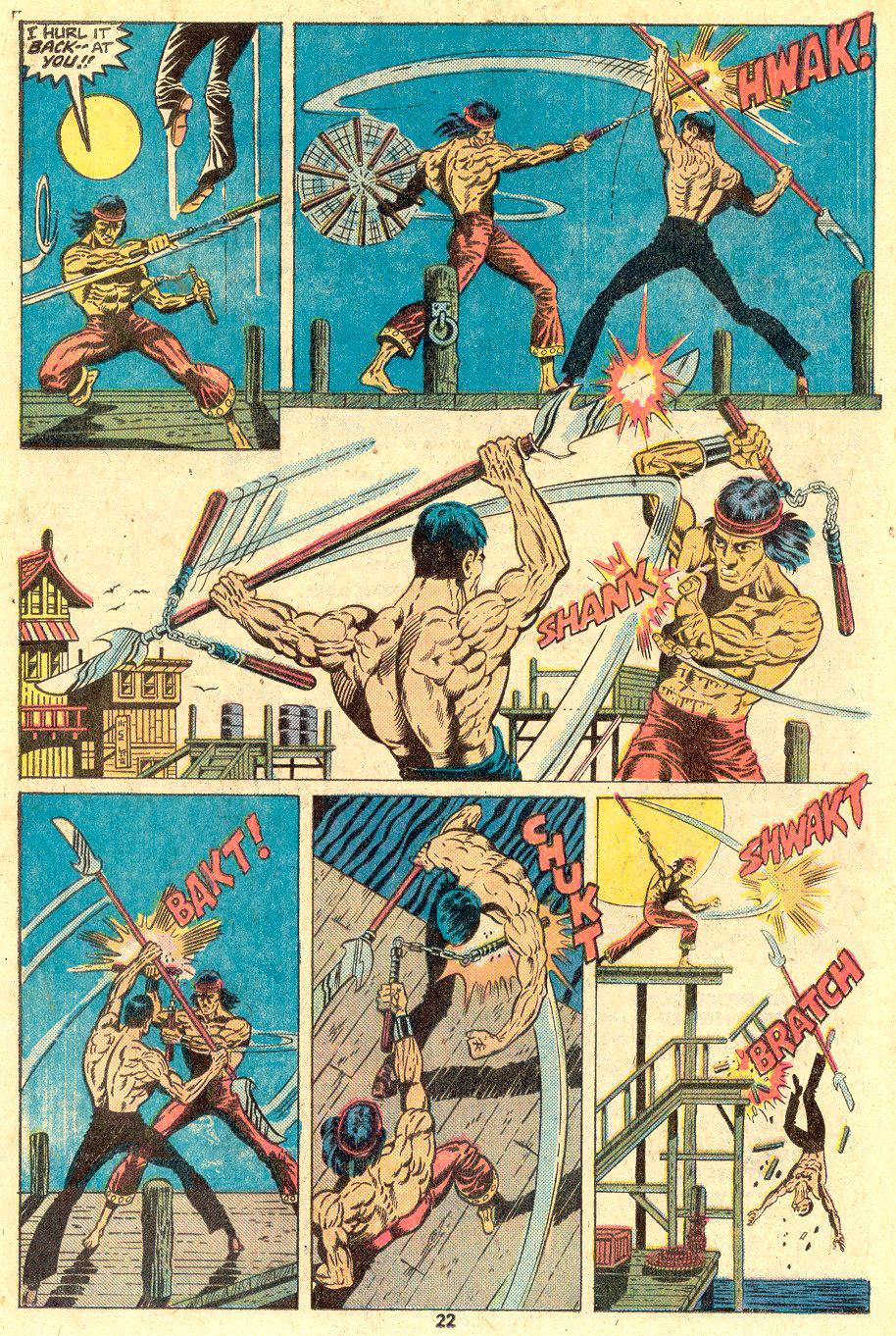 Mestre do Kung Fu enfrenta Shen Kuei, arte de Paul Gulacy