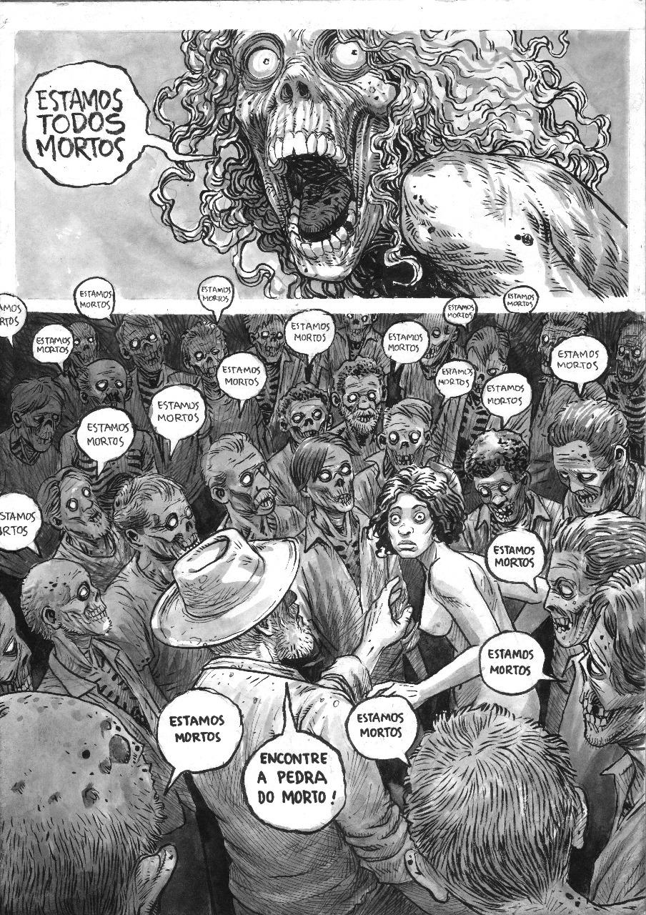 Página de Três Buracos, próximo trabalho de Shiko