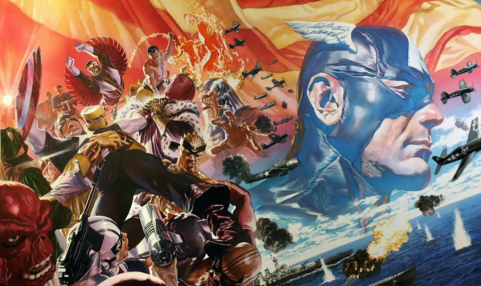 Arte de Alex Ross para Captain America # 1