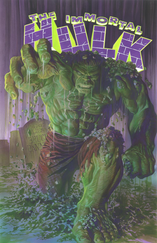 The Immortal Hulk # 1, arte de Alex Ross