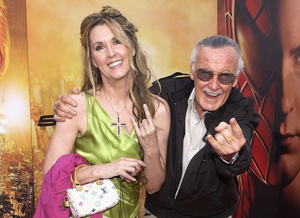Stan Lee e a filha, J.C. Lee