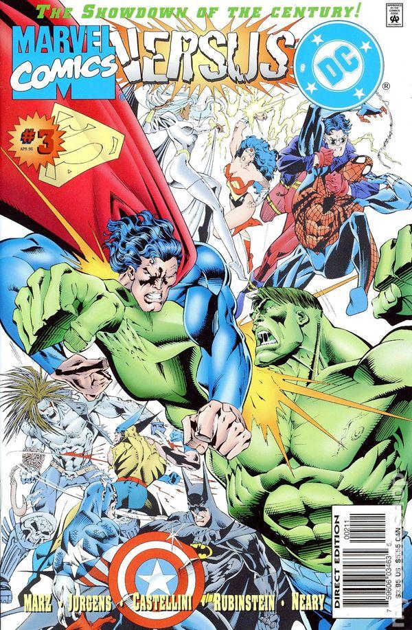Marvel vs DC, arte de Claudio Castellini