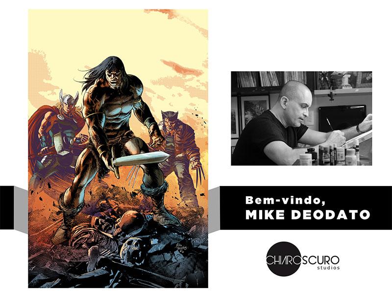 Mike Deodato na Chiaroscuro Studios