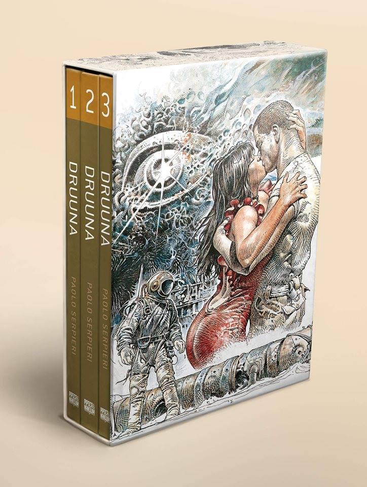 Box com os três volumes de Druuna