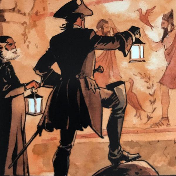 Detalhe do novo volume da série O Escorpião