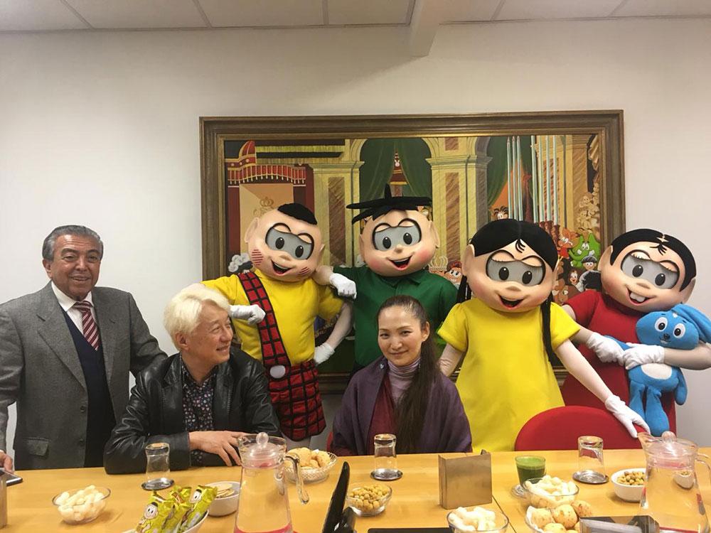Mauricio de Sousa, Makoto Tezuka e Reiko Okano
