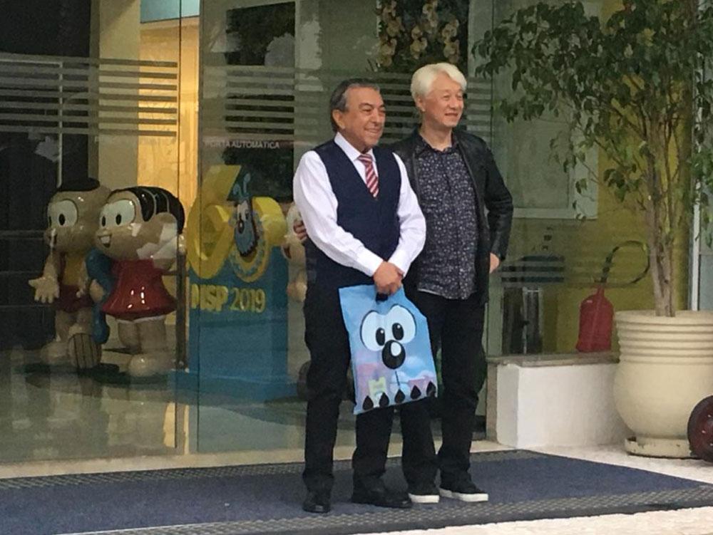 Mauricio de Sousa e Makoto Tezuka