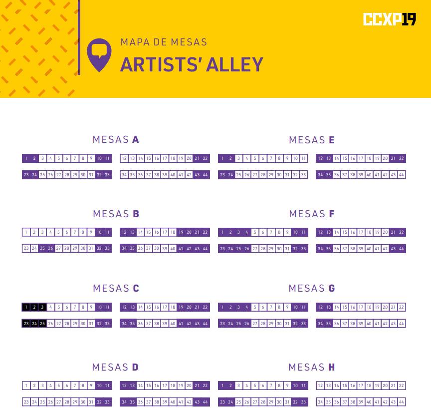 Artist's Alley 2019