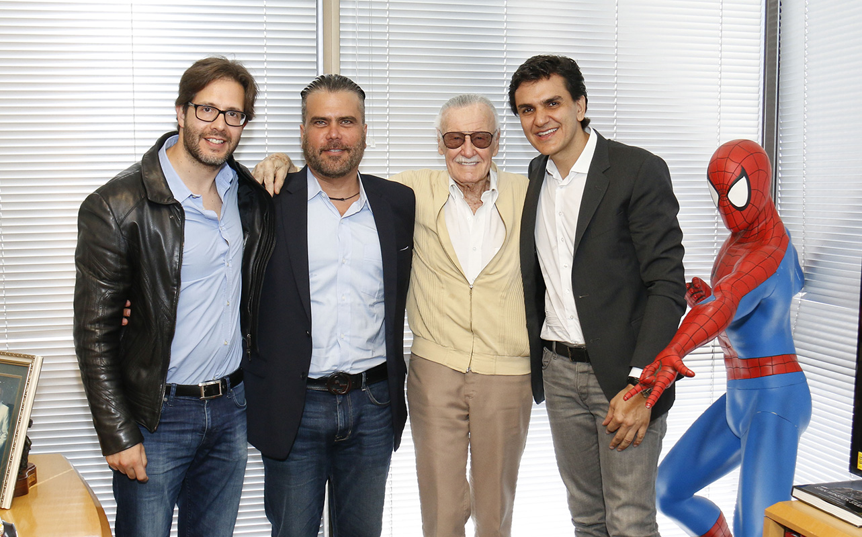 Terry Dougas, Frederico Lapenda, Stan Lee e Gabriel Chalita