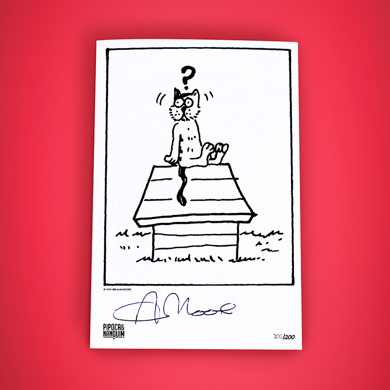 Bookplate autografado por Alan Moore