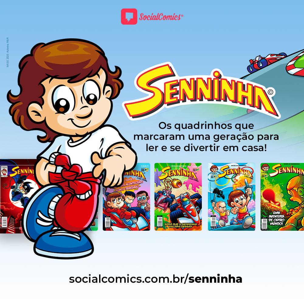 Senninha no Social Comics