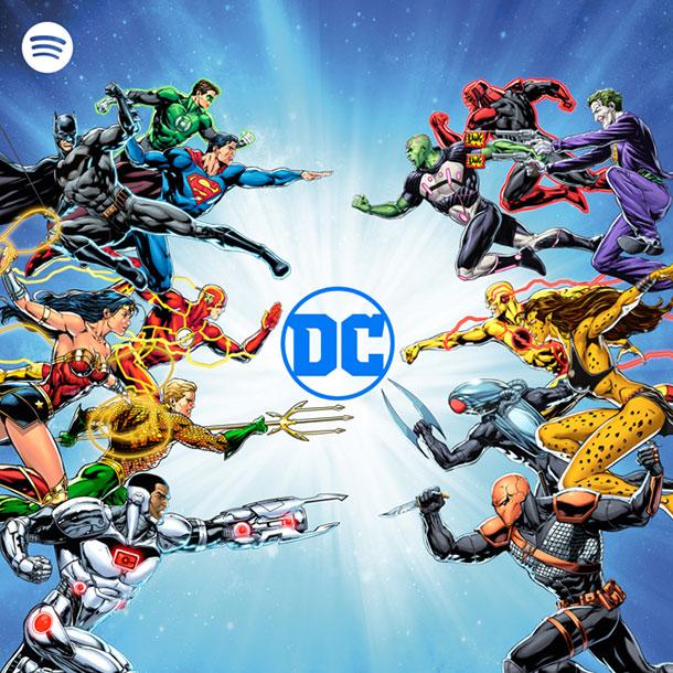 Spotify e DC Comics