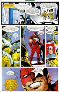 ágina cortada de Capitão América, em Paladinos Marvel #7