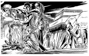 Seqüência mostra acampamento dos magos durante a viagem até Belém