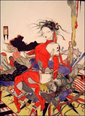 Elektra, por Yoshitaka Amano