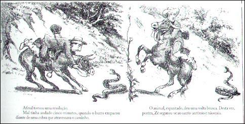 Zé caipora em Apuros, arte de Angelo Agostini