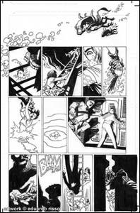 Página de Alien Ressurrection, arte de Eduardo Risso