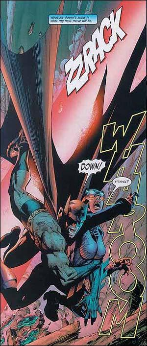 Batman e Mulher-Gato, no traço de Jim Lee