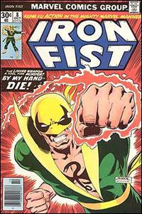 Iron Fist #8, publicado no Brasil como Punho de Ferro, pela Editora Abril, na antiga revista Heróis da TV