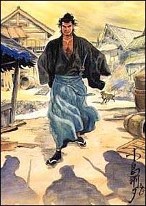 Lobo Solitário, arte de Goseki Kojima