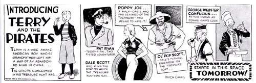 Terry e os Piratas, de MIlton Caniff