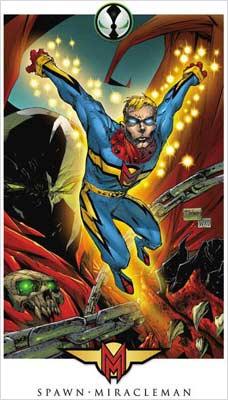 Miracleman e Spawn, em imagem veiculada pela Image Comics
