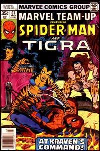 Marvel Team-Up #67, de março de 1978, uma das revistas produzidas em parceria com Chris Claremont