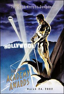 Pôster da 74th Academy Awards, a cerimônia de entrega do Oscar