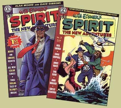 Edições # 1 e 2 de The Spirit - The New Adventures